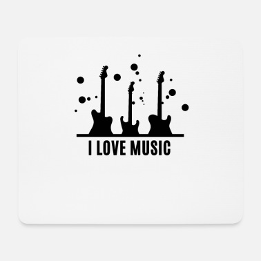 I Love Music I love music ... I love music ... with guitar - Mouse Pad
