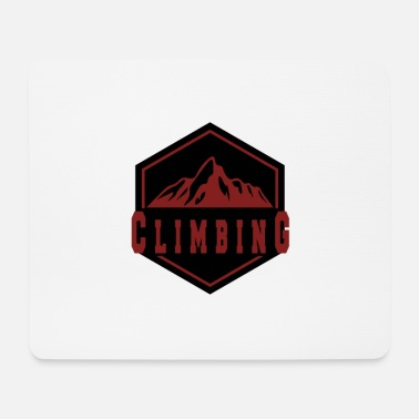 Mountain Climbing Climbing in the mountain - climbing in the mountains - Mouse Pad