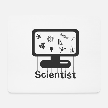 Scientist Scientist on monitor - Scientist on monitor - Mouse Pad