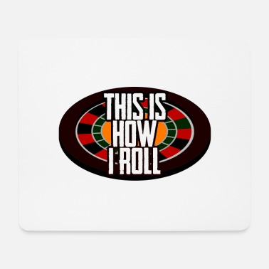 Pokerface This is how I roll Poker Roulette Casino Karten - Mousepad