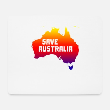 Continent australia save the continent - save the continent - Mouse Pad
