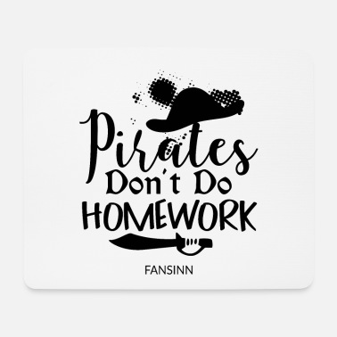 Wooden Leg Pirate Ship Skull Captain Treasure Gift - Mouse Pad