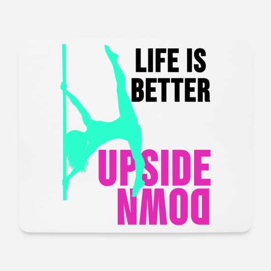 Pole Dance Mousepads  - Pole Dance Shirt Stripperin Burlesque Geschenk - Mousepad Weiß