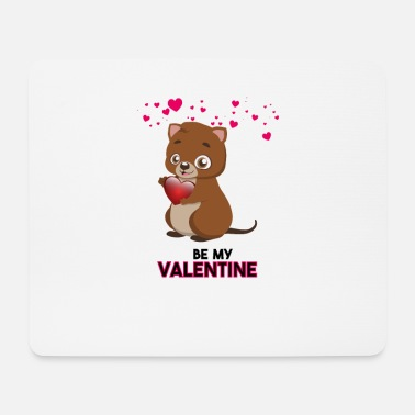 Quokka Be My Valentine - Tapis de souris