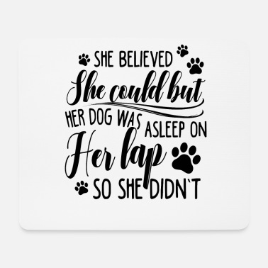 Great Dane Believed She Coud Her Dog Was Asleep On Her Lap - Mouse Pad