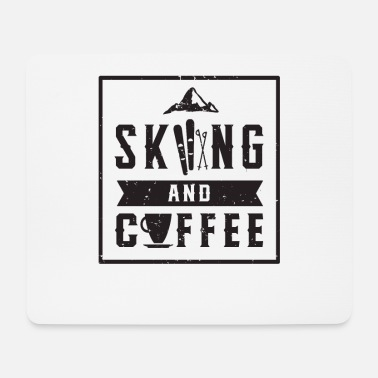 Winter Sports Skiing coffee winter sports skis snow winter - Mouse Pad