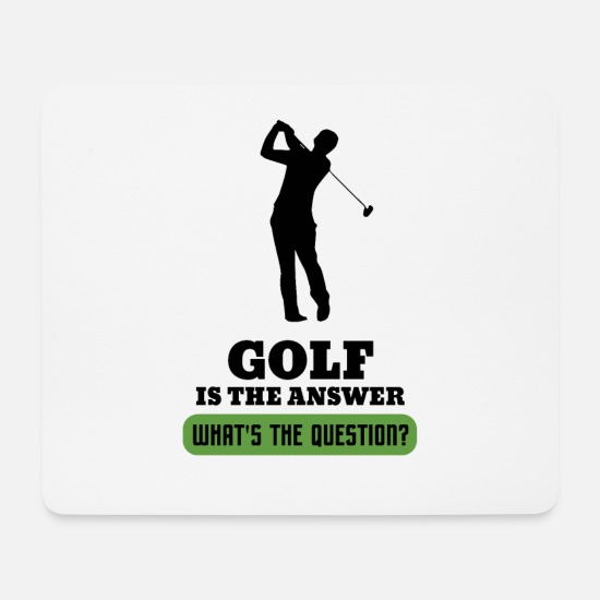 Gift Idea Mouse Pads - Golf Golf Ball Golfers Golfing Golfing - Mouse Pad white