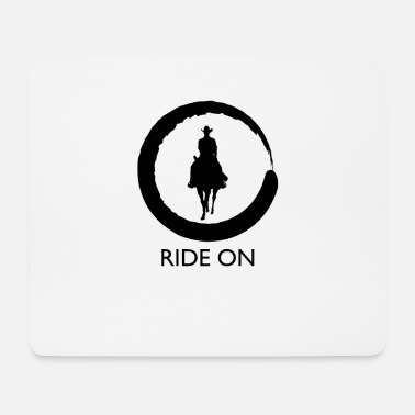 Horse Riding Horses Riding Horses Riding Horses Riding - Mouse Pad