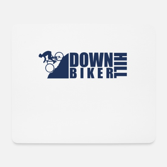 Gift Idea Mouse Pads - Cyclist Downhill Downhill Downhill Bicycle - Mouse Pad white