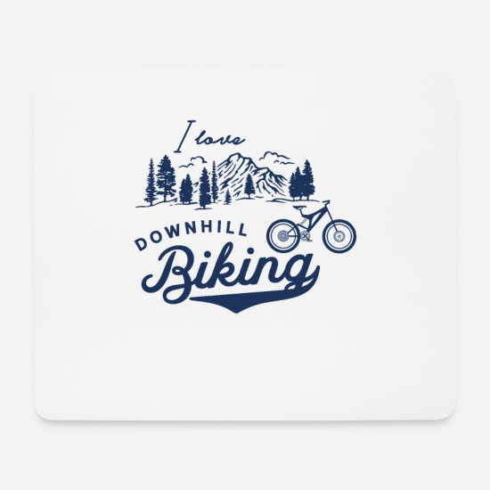 Gift Idea Mouse Pads - Downhill - Mouse Pad white