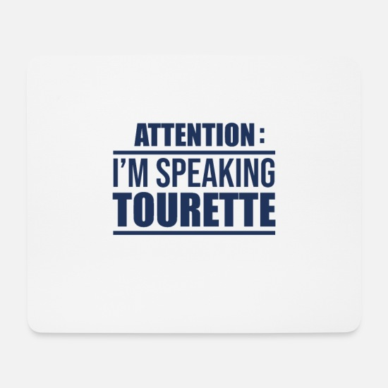 Disabled Mouse Pads - Tourette disability - Mouse Pad white
