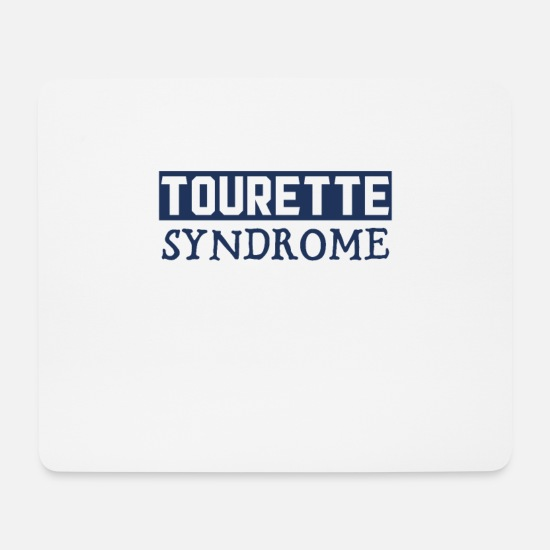 Gift Idea Mouse Pads - Tourette - Mouse Pad white