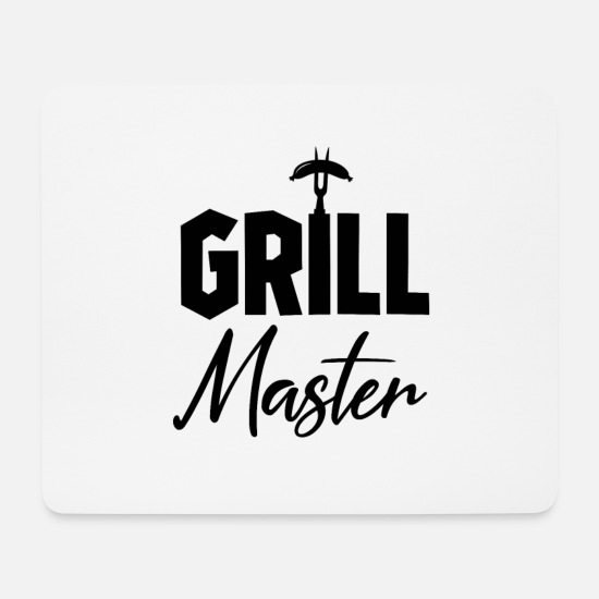 Grill Mousepads  - Grillmeister - Mousepad Weiß
