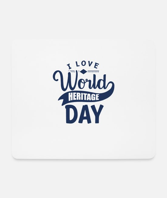 Family Crest Mouse Pads - World Heritage Day - Mouse Pad white