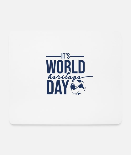 Family Crest Mouse Pads - Day World Heritage World Heritage Day World Heritage Holiday - Mouse Pad white
