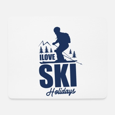 Ski Vacation Team Skiing Ski Ski School Ski Holiday Winter vacation - Mouse Pad