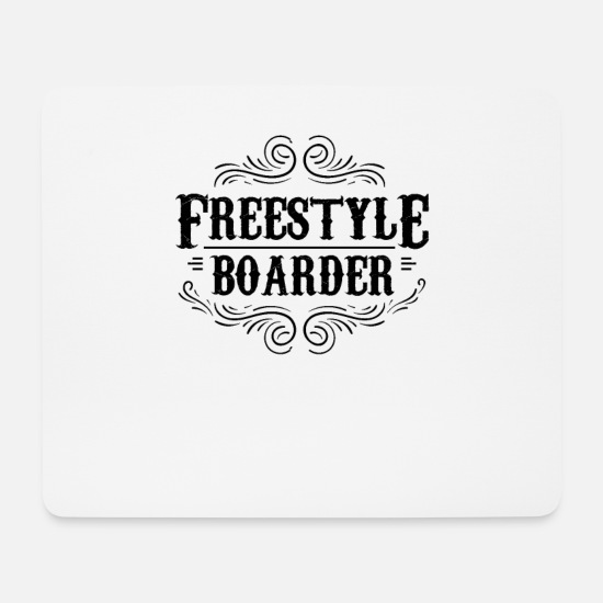 Boarders Mouse Pads - Freestyle - Mouse Pad white