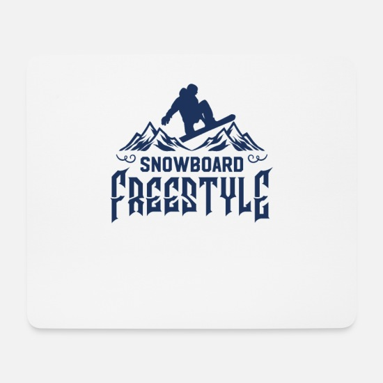 Boarders Mouse Pads - Freestyle Snowboard Freestyler Snowboarder Boarding - Mouse Pad white
