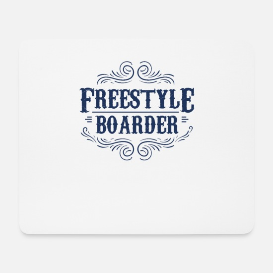 Boarders Mouse Pads - Boarden Snowboarder Snowboard Freestyle Freestyler - Mouse Pad white