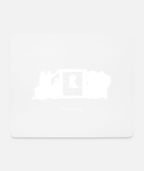 Engagement Mouse Pads - wedding 2 - Mouse Pad white