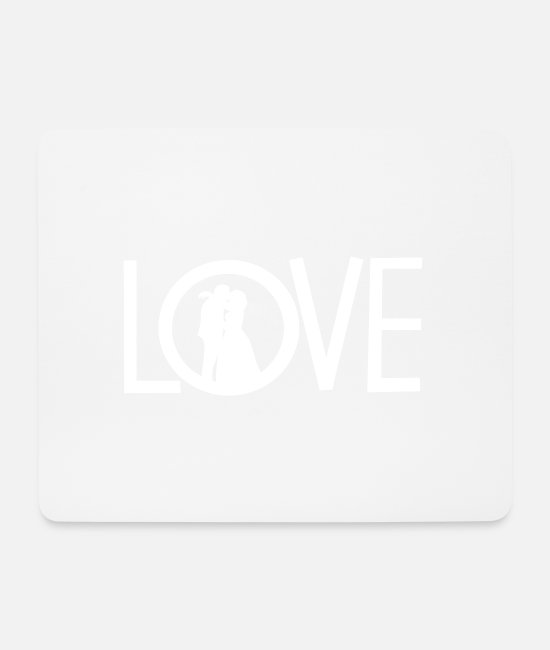 Heart Mouse Pads - love - Mouse Pad white