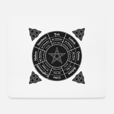Paganismus Wheel of the Year - Mousepad