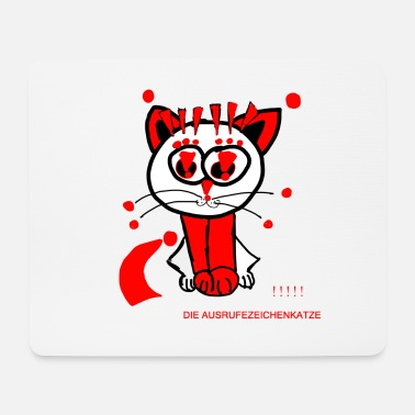 Punctuation Marks The exclamation mark cat loves punctuation marks - Mouse Pad