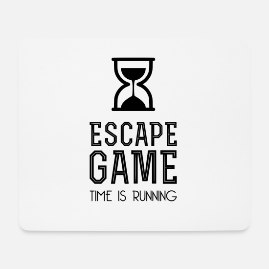 Quiz Mousepads  - Escape Game TIME IS RUNNING - Mousepad Weiß