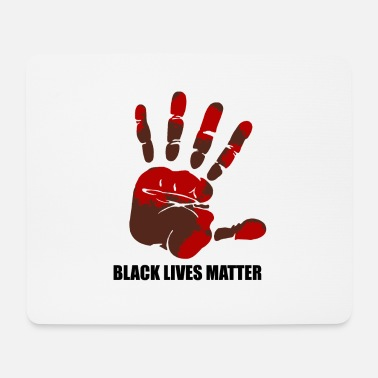 Gay Rights Black Lives Matter - bloody handprint - Mouse Pad