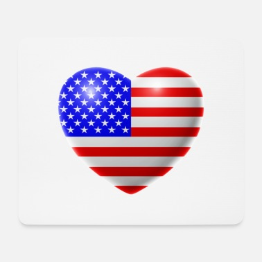 Usa Heart (USA / USA) - Mouse Pad