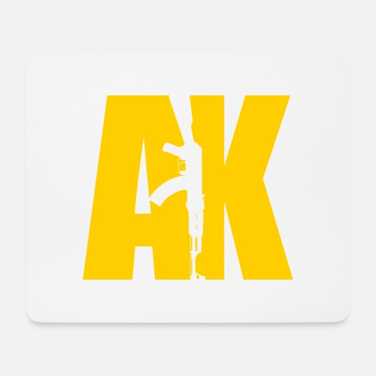 Special Forces Mouse Pads - AK47 YELLOW - Mouse Pad white