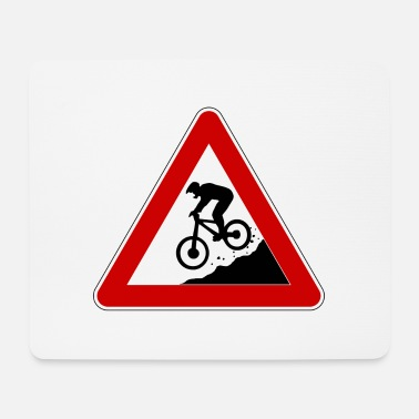 Sign Traffic sign Achtung Downhiller - Mouse Pad