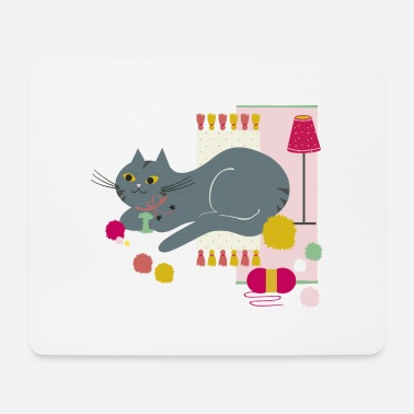 Cosy Chat Cosy Curry Framboise - Tapis de souris