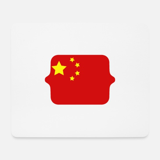 Country Mouse Pads - China flag - Mouse Pad white