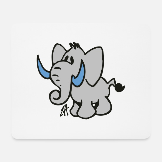 Jumbo Mouse Pads - Elephant - Mouse Pad white