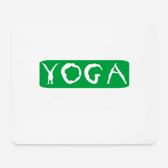 Gift Idea Mouse Pads - yoga - Mouse Pad white