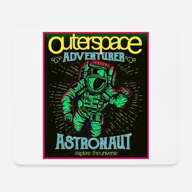 Outerspace Outerspace - Astronaut in retro look - Mouse Pad