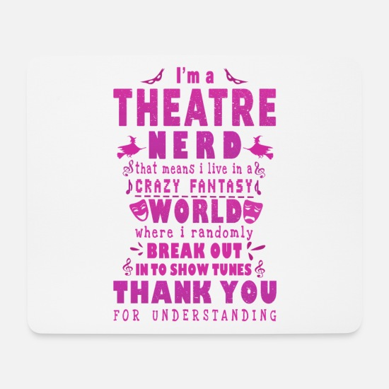 Play Mouse Pads - Theater nerd fantasy - Mouse Pad white
