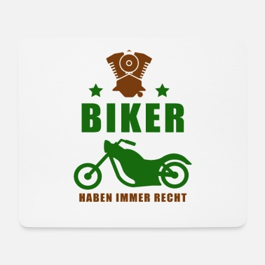 Motorcycle shirt • motorcyclist • biker gift - Mouse Pad