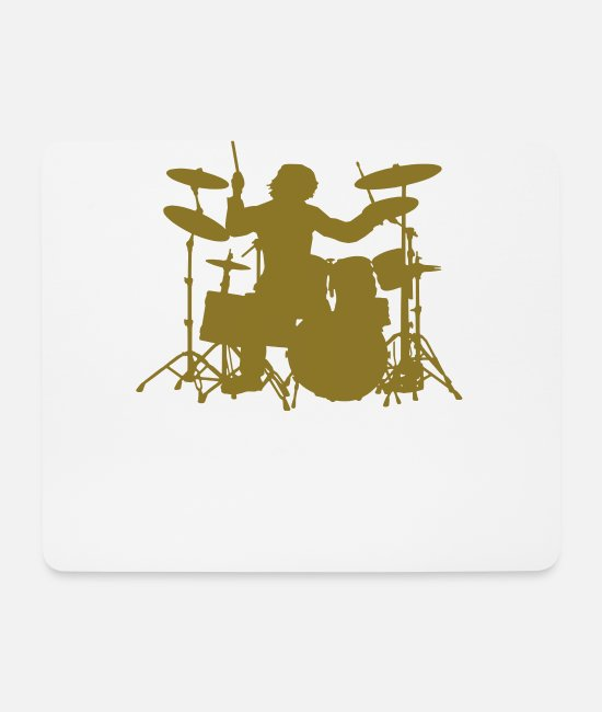 Pearl Mouse Pads - Drums - Mouse Pad white