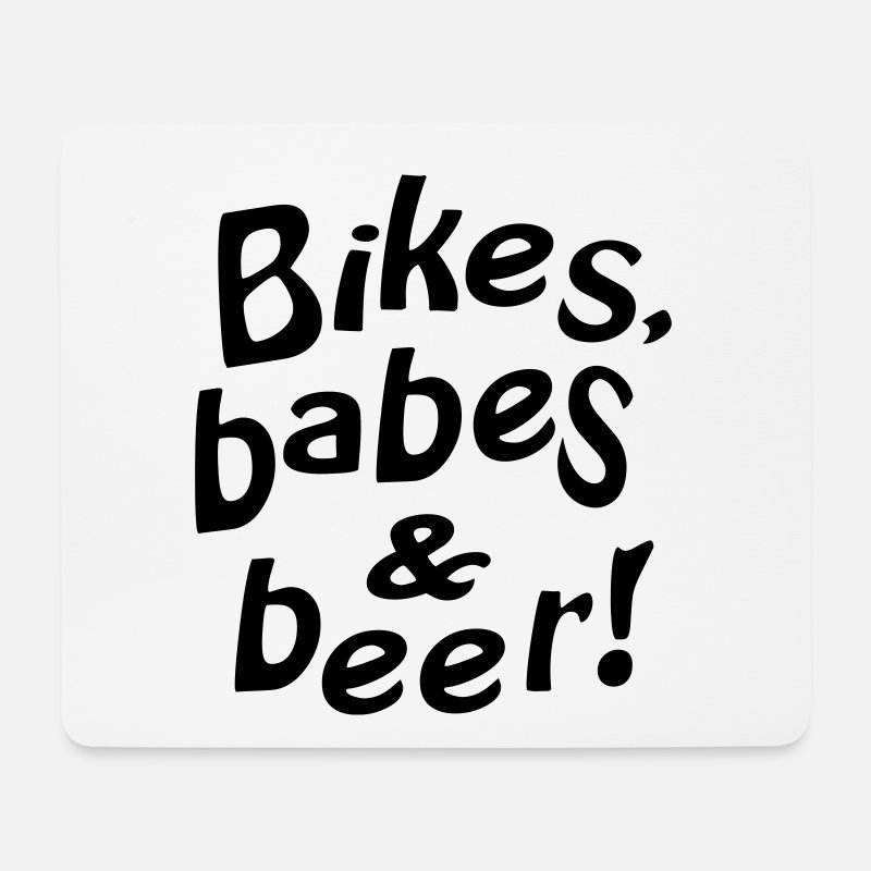Biker Mouse pads  - bikes babes beer - Mouse Pad white