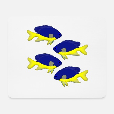 Coral Azur Damselfish selection - Mouse Pad