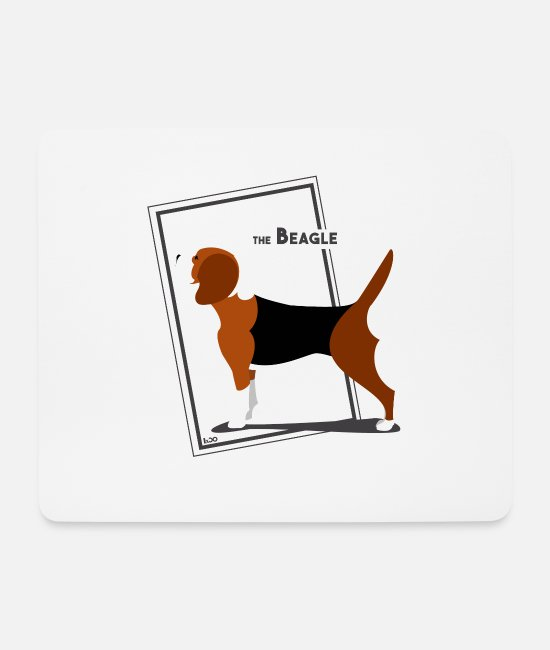 Obedience Mouse Pads - The Beagle by IxCÖ - Mouse Pad white