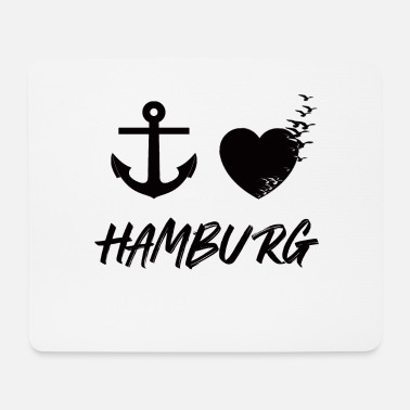 North Sea Cottage I love Hamburg - Mouse Pad