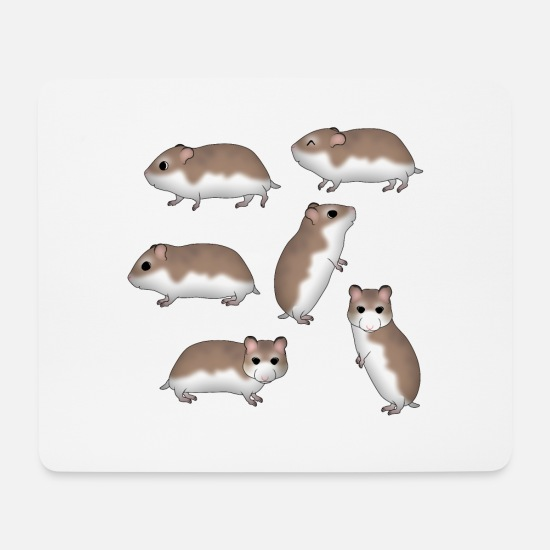 Wheel Mouse Pads - Roborowski hamster selection - Mouse Pad white