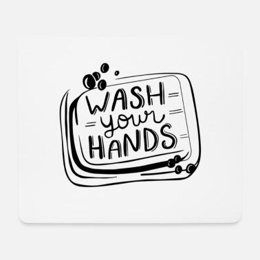 """Stay Home Händewaschen Mauspad Mousepad /""""VIRUS/"""" Pandemie"""