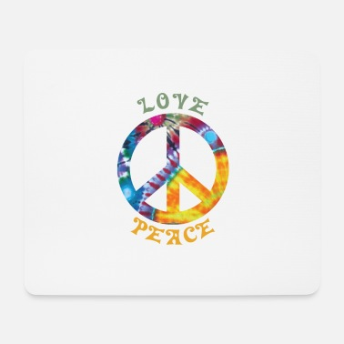 70s Love Peace Hippie Hippie costume 60s 70s 90s - Mouse Pad