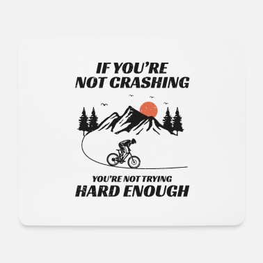 Biker Mountain biking bicycle off-road Bike MTB Gift - Mouse Pad