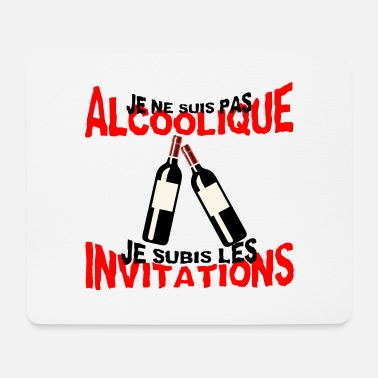 not alcoholic suffered invitation humor alcohol - Mouse Pad