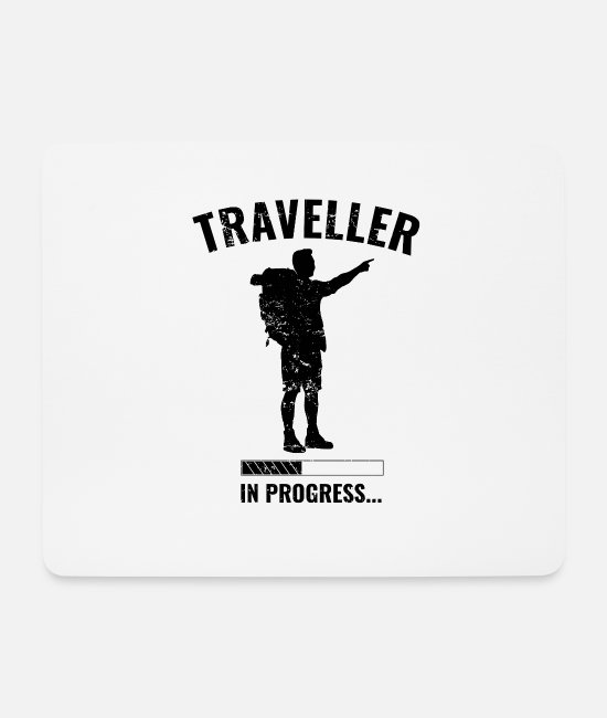 Travel Bug Mouse Pads - Traveler in training - Mouse Pad white